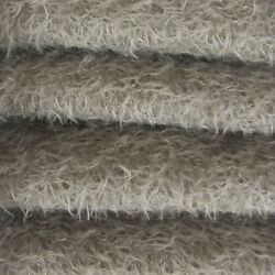 1/6 Yd 300s/cm Pewter Intercal 1/2 Ultra-sparse Curly Matted Mohair Fabric