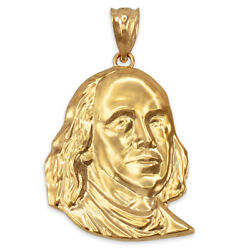 Yellow Gold Benjamin Franklin Pendant S/m/l