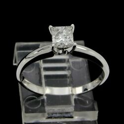Estate Narural Diamond Solitaire Engagement Ring 14k Gold Certified 0.40 Cttw