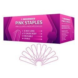 Pink Colored Landscape Staples Sod Staples Landscape Fabric Pins By Sandbaggy