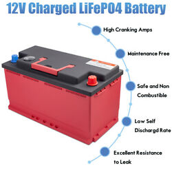 Dohon 12v 100ah 2100cca Lithium Iron Battery Lifepo4 For Camping Audio Bms