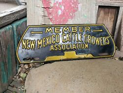 Vintage Original New Mexico Cattle Growers Association License Plate Topper Rare