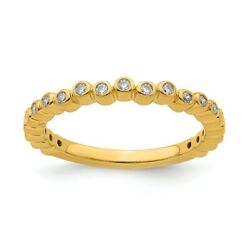 14k Yellow Solid Gold Diamond Stackable Expressions Fashion Rings