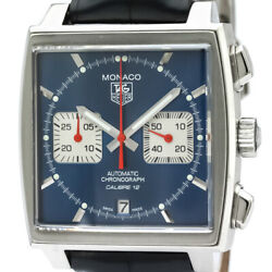 Tag Heuer Monaco Chronograph Steel leather CAW2111 (144327