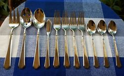 11pcs - Cambridge Cbs144 Stainless 18/10 Glossy 4/servers 4/forks 3/spoons