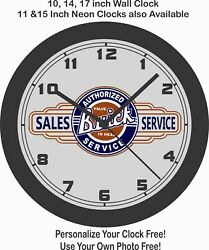 Buick Authorized Sales And Service Wall Clock-chevrolet Ford Cadillac Pontiac