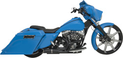 Python Black Rayzer 2 Into 1 Shorty Exhaust System For Harley Touring 07-16