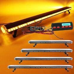 25 To 63 In Led Amber Warning Emergency Beacon Strobe Light Bar Roof Tow Truck