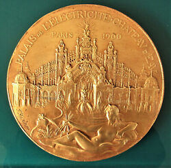 France-1900 Universal Expo -electricity Palace-large Cast By Rasumny-ex Rare