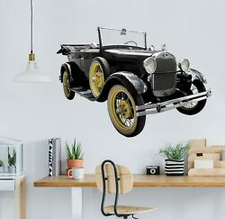 3d Oldtimer Car G99 Car Wallpaper Mural Poster Transport Wall Stickers Wendy