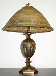 Antique Reverse Painted Pairpoint Table Lamp