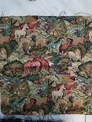 New horses wall hanging tapestry machine 18 x 18