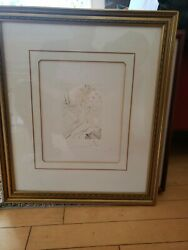 Salvador Dali Pencil Signed Drypoint Etching Engraving Decameron Day 2 Two Coa