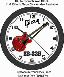 Gibson Es-335 Guitar Wall Clock-other Colors And Models Available-fender