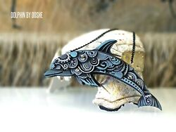 Dolphin Figurines - Car Hanger - Dolphin Gifts - Car Accessories -dolphin Charms