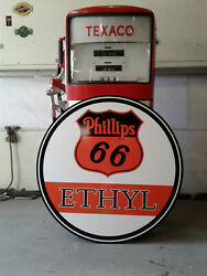 Xtar Large 37 Inch Vintage Style Phillips 66 Gasoline Sign
