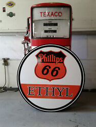 Xtra Large 37 Inch Vintage Style Phillips 66 Gasoline Sign