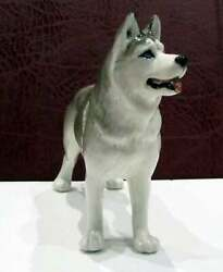Husky Dog Porcelain Figurine Souvenirs From Russia Statuette High Quality