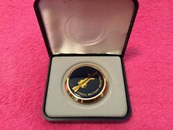 Extremely Rare Imi Israeli Military Industries Paperweight 24kt Gold Plated