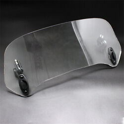 Transparent Rised Moped Scooter Windshield Deflector Extender Adjustable from US