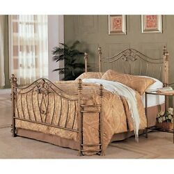 Coaster 300171Q Fine Metal Bed Headboard and Footboard Queen Gold Finish NEW