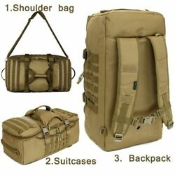Hiking Camping Backpack Tactical Nylon Waterproof Camouflage Rucksack 60l 1000d