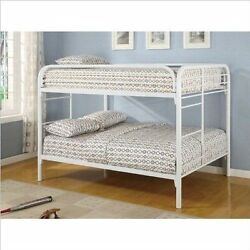 Coaster FullFull Bunk Bed -Glossy White 460056W
