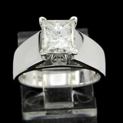 Christmas Special 14k Gold 1.50 Ct Not Enhanced Diamond Princess Solitaire Ring