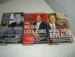 Kevin Trudeau 3 Hardcover Book Lot Natural Cures, Debt Cures, The Weight Loss