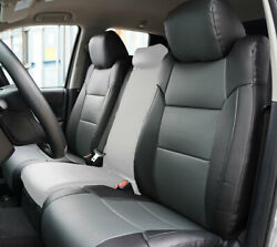 TOYOTA TUNDRA 2014 2020 BLACK CHARCOAL S.LEATHER CUSTOM MADE FRONT SEAT COVER $149.00