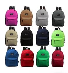 Lot Of 24 17 Wholesale Backpack For Kids Basic In 8 -12 Assorted Colors