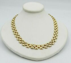 14k Yellow Gold Domed Hollow Pantherlink Chain Necklace 18 Inch 7.3mm 25.3g M319