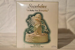 Department 56 Snowbabies A Baby For Everyday Sunday,special In Every Way. Nib