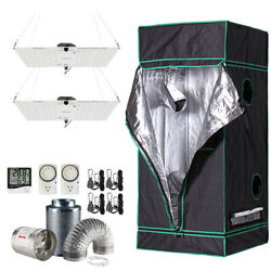 31x31x71 Grow Tent Kit W/ Hlg Rspec Led And Fan + Carbon Filter Combo 2.5and039x2.5and039