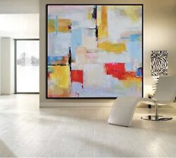 """Contempory Abstract Painting 54""""x54""""home/office Custom Order Hand Painted Large"""