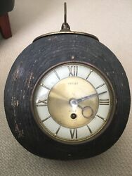 Vintage Welby 8 Day Cannonball Clock Mid Century -germany-works-with Key
