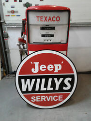 Vintage Style Large 37 Inch Willys Jeep Sign