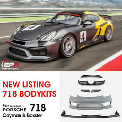 GT4 Type Carbon Wide Body All Body Kits For 2016+ Porsche Boxster 718 Cayman 982