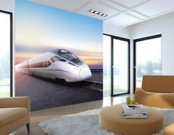 3d Sky High Speed Rail I161 Transport Wallpaper Mural Sefl-adhesive Removable An