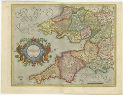 Antique Map Of South West England By Mercator 1633