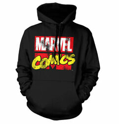 Officially Licensed Marvel Comics Retro Logo Big And Tall 3xl 4xl 5xl Hoodie