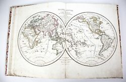 Antique 1826 Delamarche Vaugondy French Atlas Of Ancient And Modern Geography