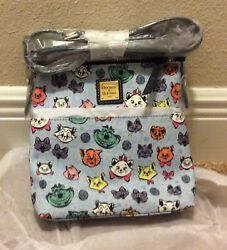 Very Rare Htf Nwt Disney Dooney And Bourke Cats Letter Carrier Crossbody Bag