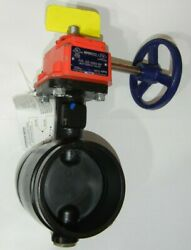 Nibco Gd-4865-8n Ductile Iron Grooved End Butterfly Valve W/ Switch 4 Nlk662h