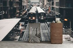 3d Train Building G417 Transport Wallpaper Mural Self-adhesive Removable Wendy