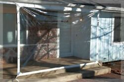 5and039 X 7and039 Clear Glass Tarp 35 Mil Smooth Vinyl Patio Enclosure Usa Made