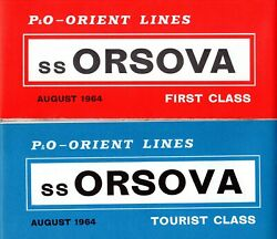 Pando-orient Orsova First And Tourist Plans W/ Interiors - Nautiques Ships Worldwide