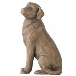 Love My Dog Dark Figurine by Willow Tree 27683 Authentic New quot;ALWAYS WITH MEquot;