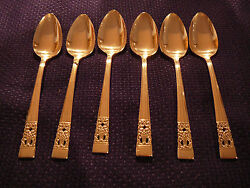 6 Community Coronation Teaspoons Hampton Court
