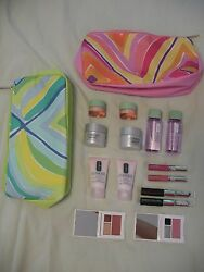 Clinique Cosmetics Lot - 16 Pieces Face Cream, Cleanser, Mascara, Blush And More